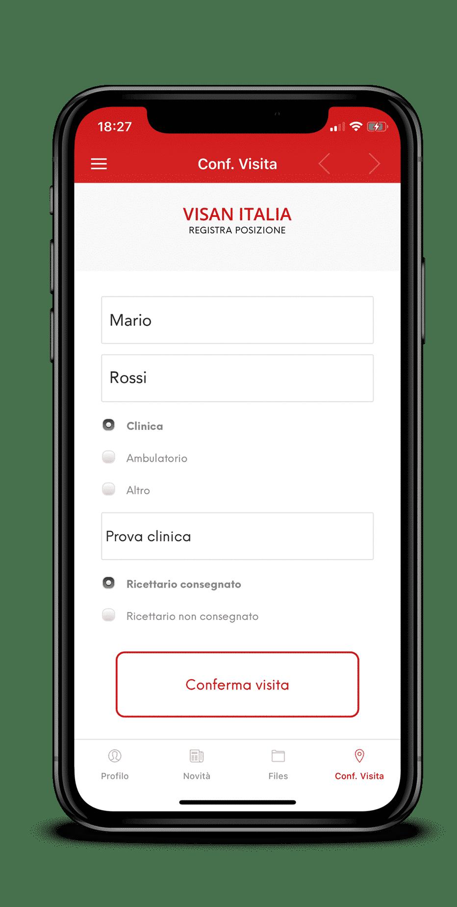 Compila tutti i campi, alla fine del modulo sarà possibile aggiungere anche delle note personalizzate.